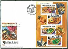 GUINEA 2015 MINERALS  SHEET FIRST DAY COVER