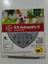 Bayer K9 Advantix II Flea & Tick Treatment for Small Dogs 4-10 lbs 2 Doses