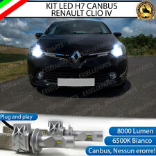 KIT FULL LED LAMPADE H7 6500K BIANCO 8000 LM XENON CANBUS RENAULT CLIO 4 IV