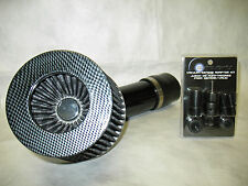 "Universal 2.75"" Diameter Carbon Fiber Short Ram Air Intake + Sensor Adapter Kit"