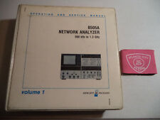 HEWLETT PACKARD 8505A NETWORK ANALYZER VOL 1 OPERATING AND SERVICE MANUAL