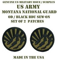 LOT OF 2 US MILITARY PATCH PATCHES MONTANA ARMY NATIONAL GUARD JFHQ UNIFORM BDU