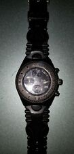 TECHNOMARINE watch black sports chronograph rubber unisex plus white band