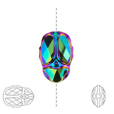 5728 Swarovski Crystal Scarab Bead Scarabaeus Green Pack of 1 (B61/13)