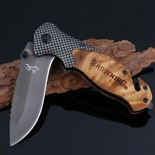Browning Knife X50 Folding Tactical Pocket Hunting Fishing Camping Knives