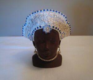 Vintage Black Lady Head Vase Napco 1956