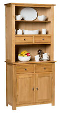 Small Oak Dresser Display Cabinet | Narrow Storage Cupboard | Solid Wood Unit