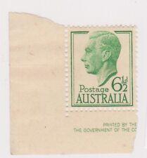 (K113-185) 1951 AU 6 1/2d Green KGVI (CK)