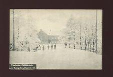 Sweden TIDAHOLM Folkskolan Elementary School in winter c1920/30s? PPC