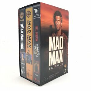 Mad Max VHS Trilogy Box Set Original Beyond The ThunderDome Road Warrior Video