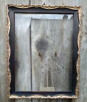Edwardian EBONISED & Gilt Picture Frame with glass
