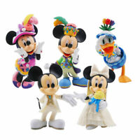 5pcs/Lot Big Size Mickey Minnie Mouse Donald Daisy Duck Action Figures Do