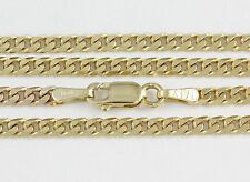 """16-24"""" 2.2mm 10k Yellow Flat Beveled Link Chain,(NEW solid Italian necklace)2384"""