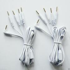 2 PCS ELECTRODE LEAD WIRES Cables for Digital Massager TENS 2.5 mm with 4 pins