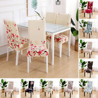 Removable Stretch Chair Covers Slipcovers Dining Room Stool Wedding Seat Cover