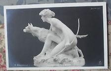 CPA nu féminin sculpture Salon Paris 1906 A. Manneville - Chasseresse à l'affût