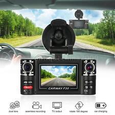 "F30 2.7"" TFT HD Dual Lens Auto Car DVR Dash Camera Video Recorder Night Vision"