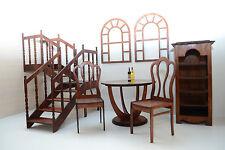 set of furniture for dolls Dollhouse FR Barbie Momoko 1/6 Size 12 inch wooden HM