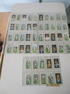 WD & HO Wills Cricketers 1928 Full Set of 50 cards in plastic sleeves