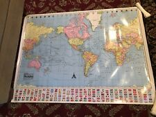 1993 COLORPRINT Map of the World Mercator Projection American Map Corp (SB)
