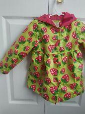 Vintage Oshkosh Bgosh Strawberry Hooded Lined Raincoat. 3T