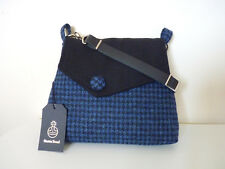 Harris Tweed Austwick Shoulder Bag – Blue Houndstooth