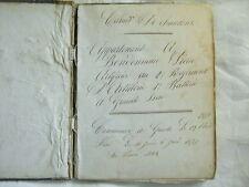 CHANSONS 19° recueil manuscrit 1877/1883 2°REG ARTILLERIE GRENOBLE/INDRE&LOIRE
