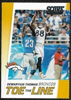 Demaryius Thomas 2016 Score Toe the Line Gold #6 Denver Broncos Parallel Insert