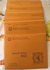 NL*ITALIA Divisionale anno 1982 con 500 LIRE ARGENTO CARAVELLE FDC Set zecca