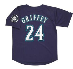 Ken Griffey Jr. Seattle Mariners Alt Navy Blue Men's Jersey w/ Team Patch Large