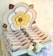 24 Bomboniere con Torta con fiore  per Matrimonio Comunione Cresima Battesimo