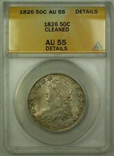 1826 Bust Half Dollar 50c Silver Coin ANACS AU-55 Details (B)