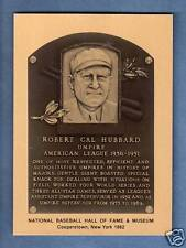 Cal Hubbard, Umpire / also: Nfl Pro Football Hall of Fame Metal plaque-card