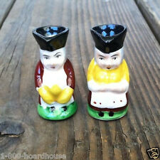 2 Vintage Original JAPAN HAND PAINTED TOBY Mugs State Fair Claw Prizes 1940s