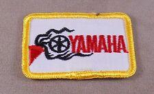 Vintage Yamaha Powersport Patch, Cap /Jacket / Merrowed Edge, Iron On Backing
