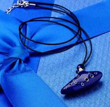 The Legend of Zelda Link Ocarina Of Time Necklace Blue 5cm US Seller