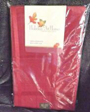 """New Red Plaid Design Holiday At Home Table Cloth 60"""" by 84"""" oval Factory Sealed"""