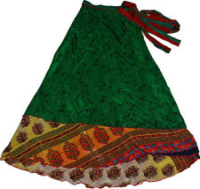 "Womens Long Plus Size Wholesale 5 Pcs Lot Of Indian Wrap Around Skirt 36"" XL"