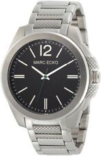 Marc Ecko The Hudson 3-HAND SILVER Men's Watch E10569G2 NEW! Low Inter. Shipping