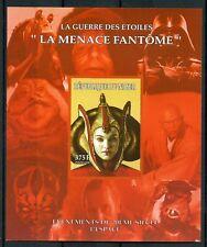 Niger 1998 MNH Star Wars Phanton Menace Queen Padme Amidala 1v Imperf M/S Stamps