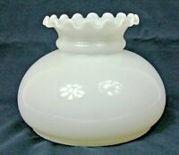 """7"""" Fitter Crimp Top Rayo White Opal Milk Glass Student Lamp Replacement Shade"""