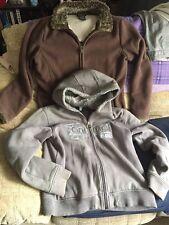 Signora WOMANS vestiti Bundle-pelliccia con zip con Cappuccio da animale + Giacca in Pile-Taglia 16
