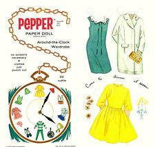 Vintge 1964 Pepper Paper Dolls ~Pretty Laser Reproduction~Org Size Uncut
