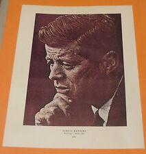 Norman Rockwell JOHN F KENNEDY & JACK BENNY Original Book Pressing Print