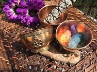 Triquetra 3-INCH Copper Bowl (smudge, incense, crystals, jewelry, keepsakes)