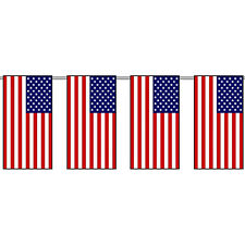USA Fabric 10 METRE 33FT 30 BUNTING FLAGS AMERICAN STARS & STRIPES