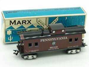 Marx Trains 981110 Pennsylvania Tin Litho Caboose Modern Marx With Box 73418