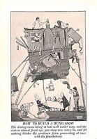 Build a Bungalow.Cartoon.Dining room.Foundations.W.Heath Robinson.1940.Builder