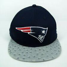 New Era Men s NFL New England Patriots Team Ostrich Visor 950 Snapback Cap  ... c5fe514d2d6a