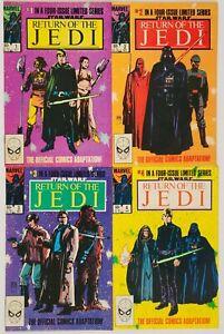 Return of the Jedi 1 2 3 4 1-4 Complete Run Star Wars 1983 Marvel Comics